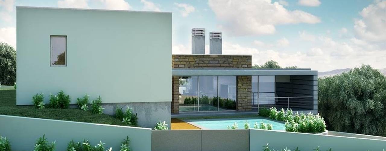 Casas de estilo moderno de Oliveiros Grupo