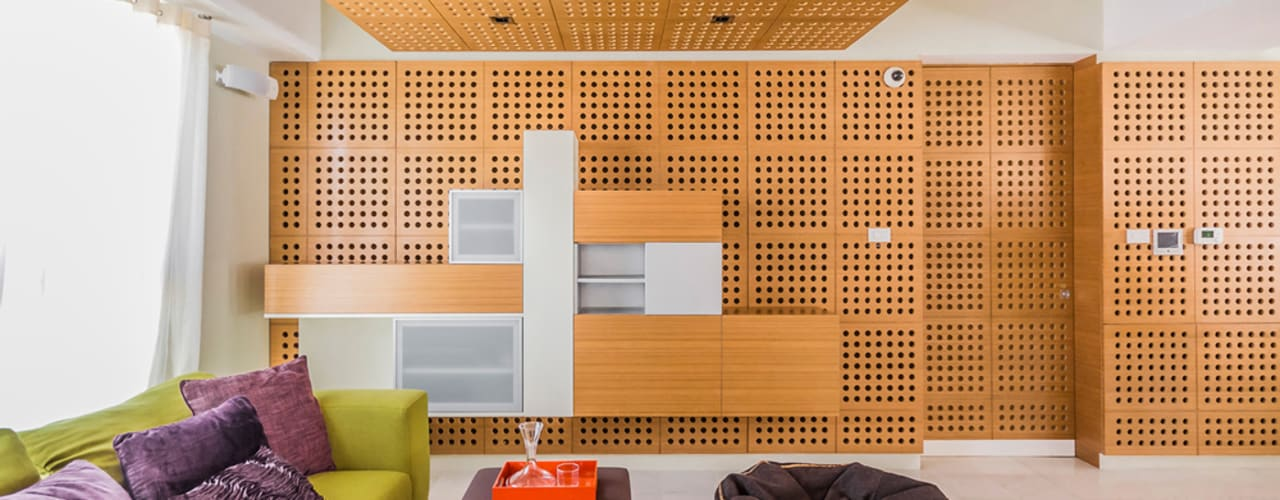 Apartamento 10A Grand Europa - NMD NOMADAS: Salas de entretenimiento de estilo  por NMD NOMADAS