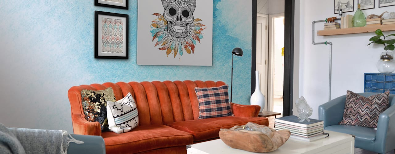 Living Room Pixers Ruang Keluarga Gaya Eklektik Multicolored