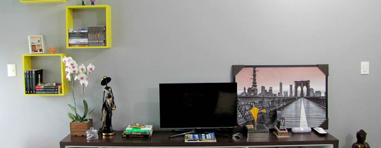 Apartamento moderno e colorido Cozinhas ecléticas por PANORAMA Arquitetura & Interiores Eclético
