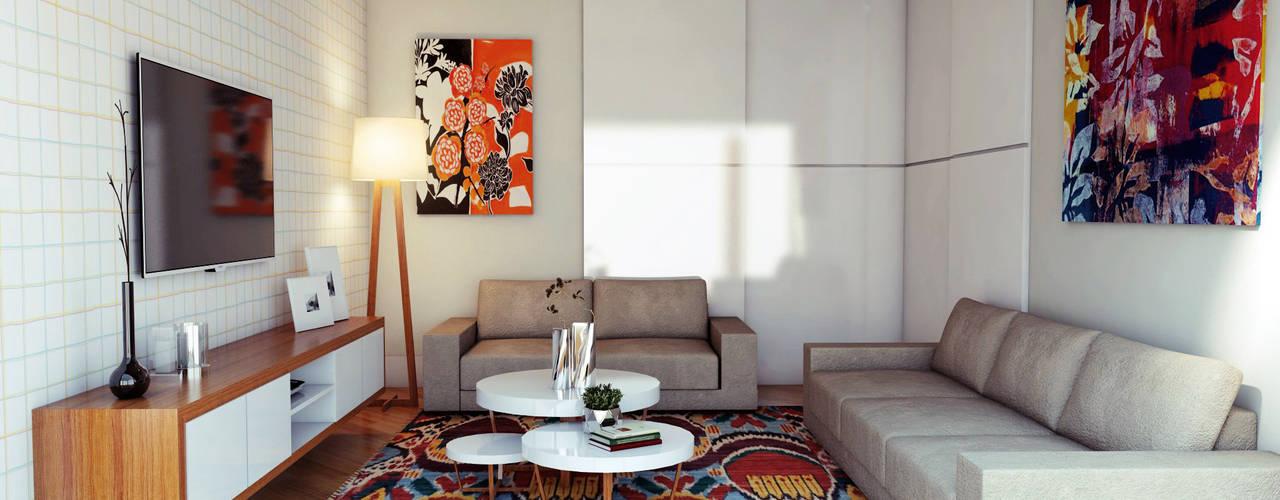 Phòng giải trí phong cách hiện đại bởi Lozí - Projeto e Obra Hiện đại