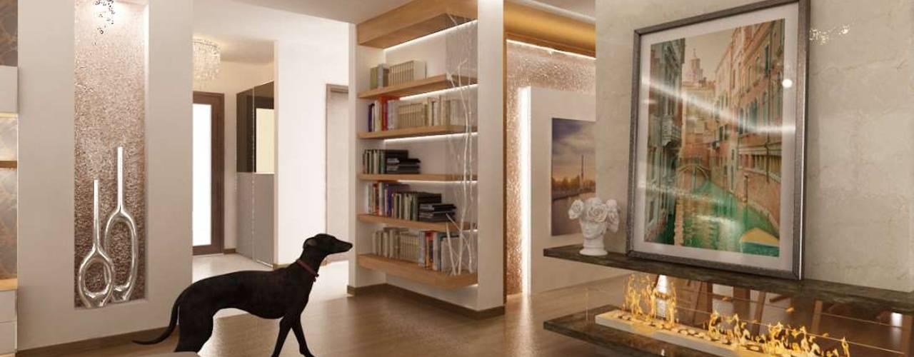 İpek Gürel Villa Modern Oturma Odası VERO CONCEPT MİMARLIK Modern