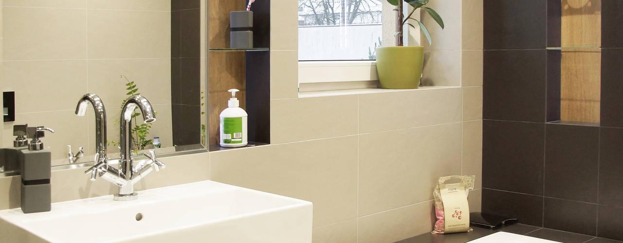 Łazienka 8m2: styl , w kategorii Łazienka zaprojektowany przez BIZZON ARCHITEKTURA WNĘTRZ,Minimalistyczny