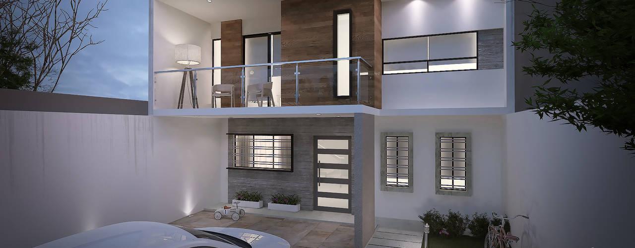 CASA EV: Casas de estilo  por FERAARQUITECTOS, Minimalista