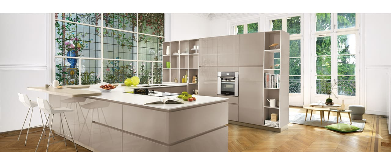 High Gloss Open Plan Kitchen Moderne Küchen von Schmidt Kitchens Barnet Modern