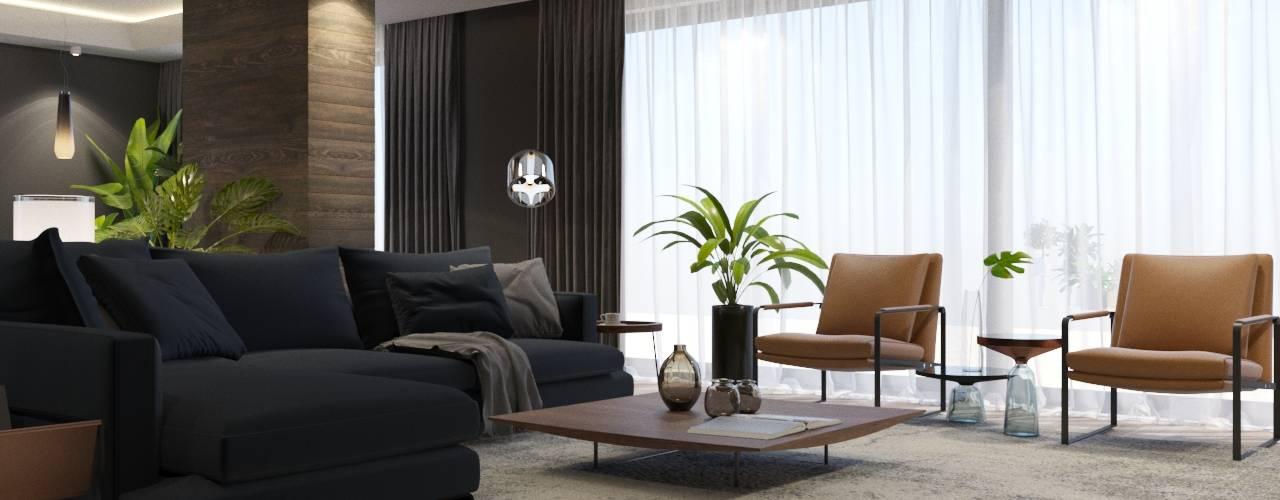 Modern villa proje Modern Oturma Odası FARGO DESIGNS Modern
