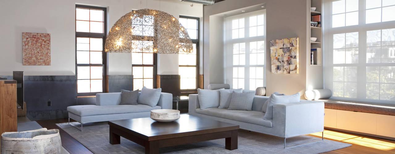Adams Morgan Loft Modern Living Room by Hinson Design Group Modern