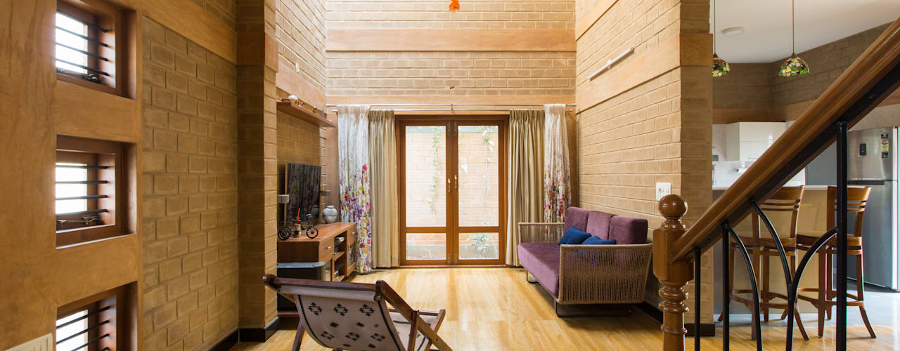 Asian style living room by A3 Ateliê Academia de Arquitectura Asian