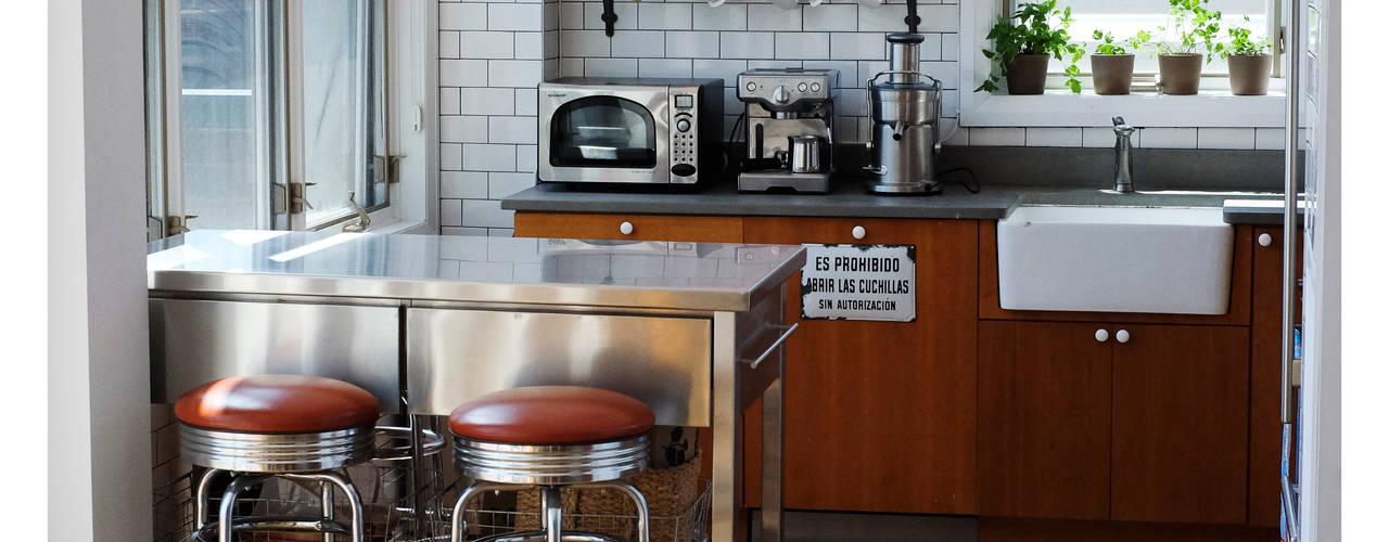 インダストリアルデザインの キッチン の La Bocheria インダストリアル