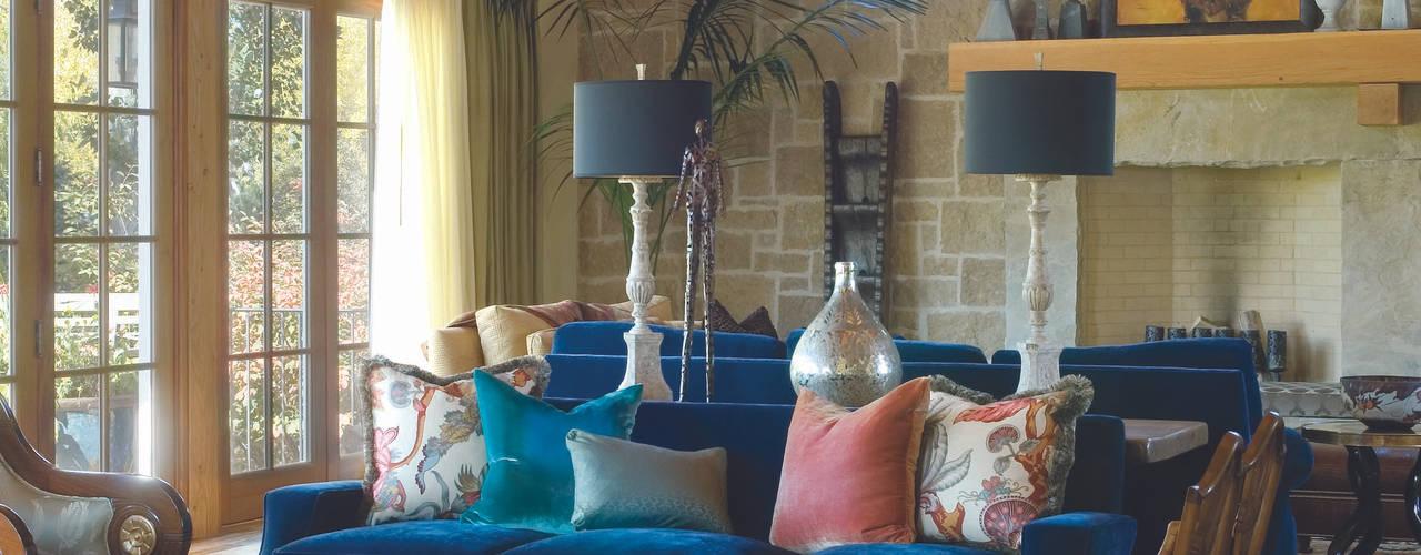 Renovation Remodel:  Living room by Andrea Schumacher Interiors
