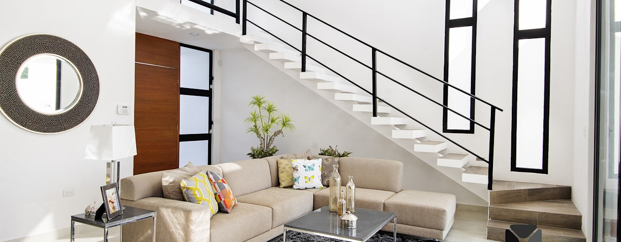 Гостиная в . Автор – PORTO Arquitectura + Diseño de Interiores,