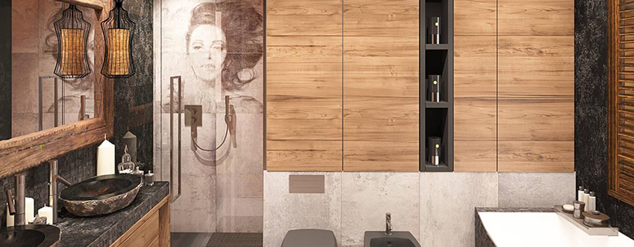 Baños de estilo industrial por FAMM DESIGN