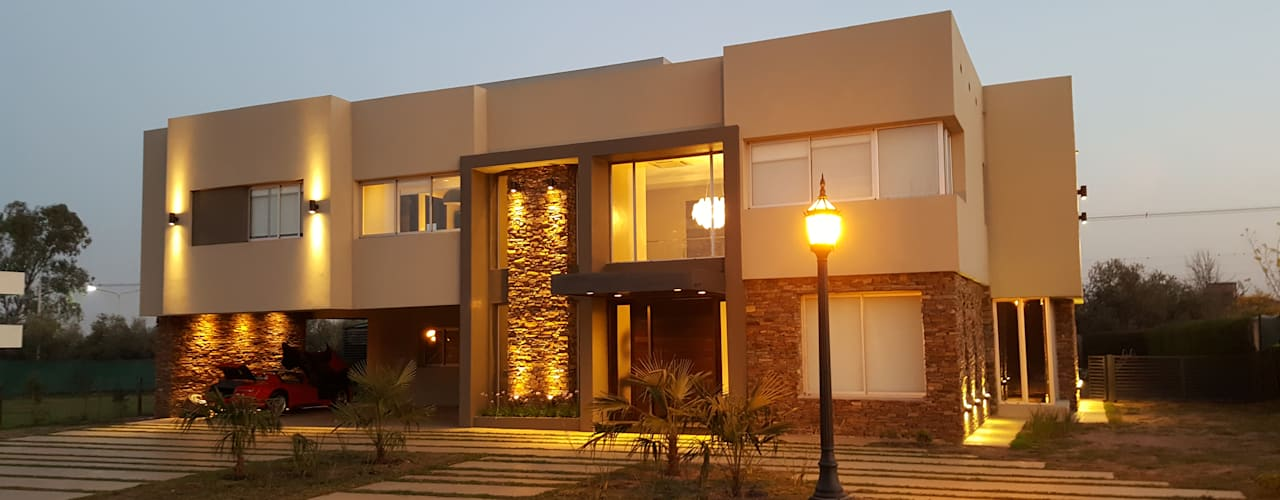 Casa Los Olivos 1: Casas de estilo  por Saleme Sanchez Arquitectos
