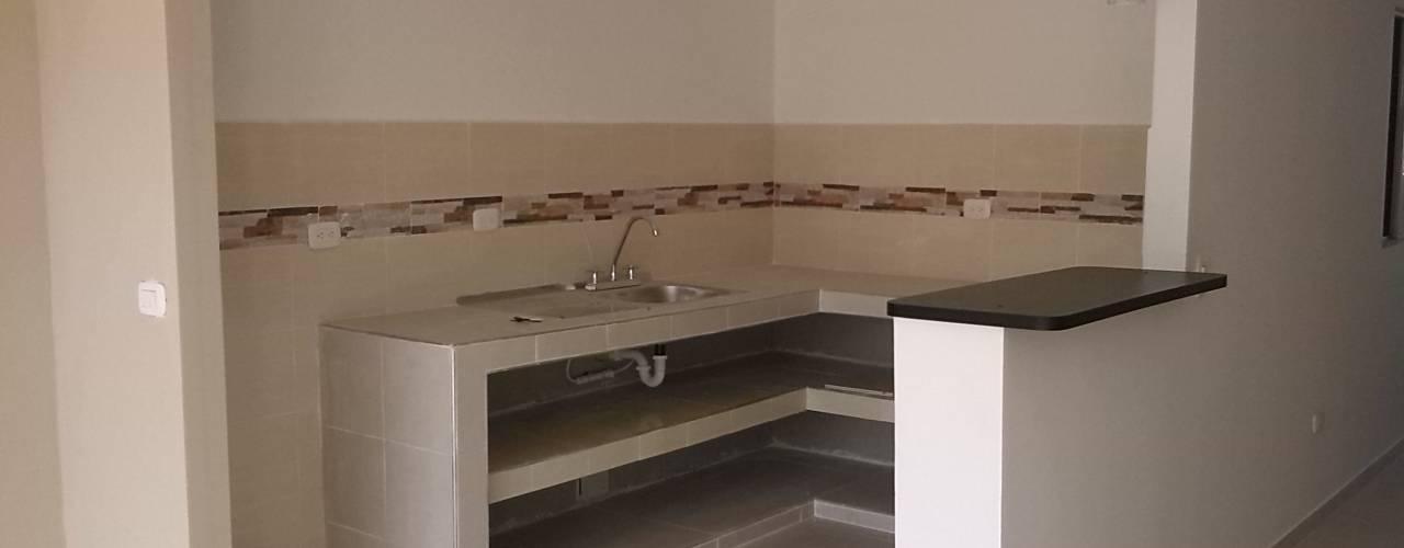 現代廚房設計點子、靈感&圖片 根據 EcoDESING S.A.S DISEÑO DE ESPACIOS CON INGENIO 現代風