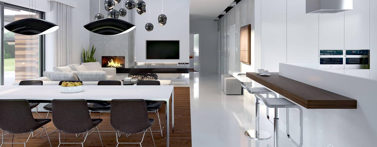 Modern kitchen by HomeKONCEPT | Projekty Domów Nowoczesnych Modern