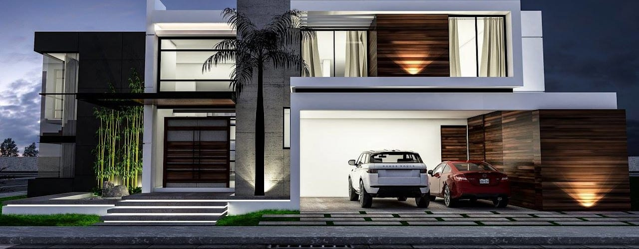 Casas de estilo  por dlp Arquitectos