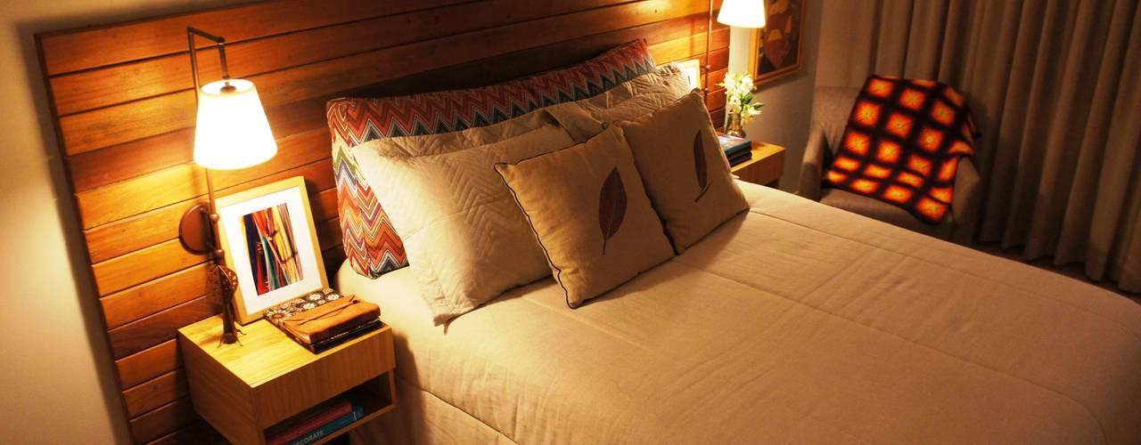 Dormitorios de estilo  por Elisa Vasconcelos Arquitetura  Interiores, Rústico