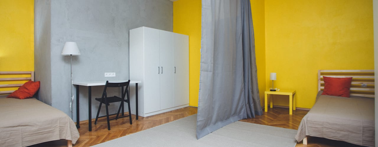 Kamar Tidur Gaya Industrial Oleh Kraupe Studio Industrial