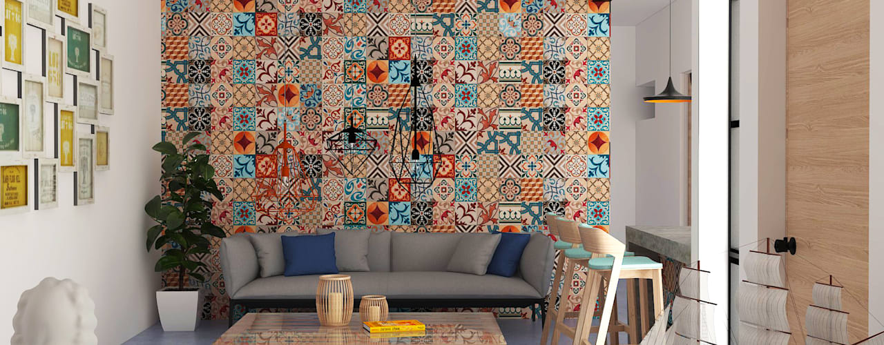 Salon de style  par Hipercubo Arquitectura, Colonial