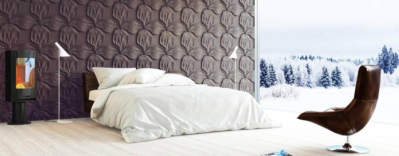 غرفة نوم تنفيذ Artpanel 3D Wall Panels
