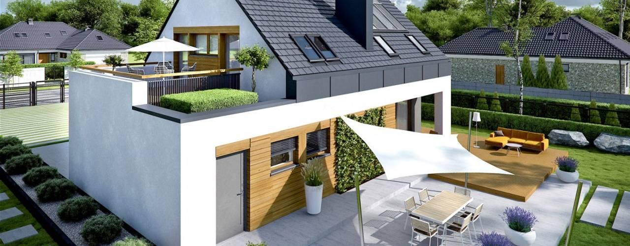 SAM G1  - NOWOCZESNY DOM, W KTÓRYM KRÓLUJE WYGODA!: styl , w kategorii Domy zaprojektowany przez Pracownia Projektowa ARCHIPELAG