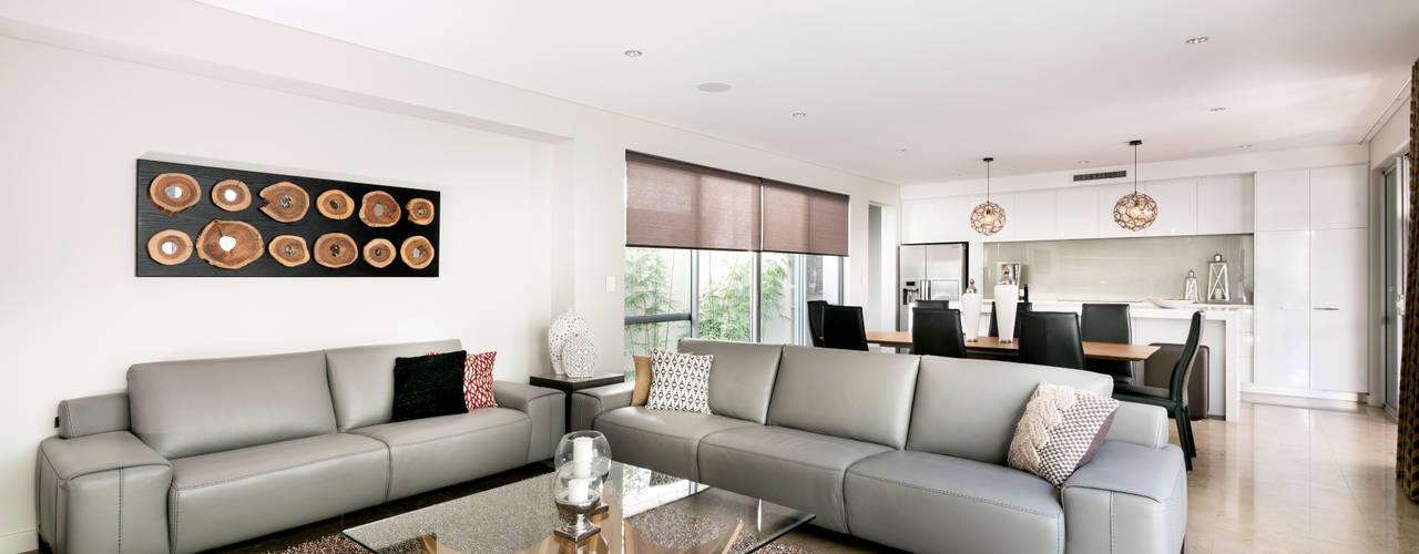 Salas de estar modernas por Moda Interiors
