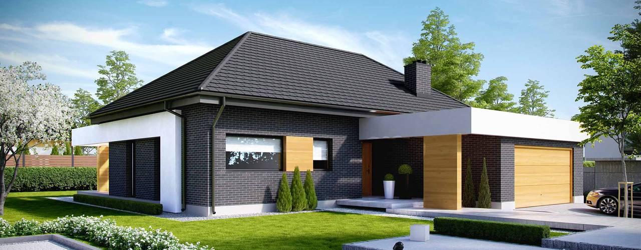 房子 by HomeKONCEPT | Projekty Domów Nowoczesnych