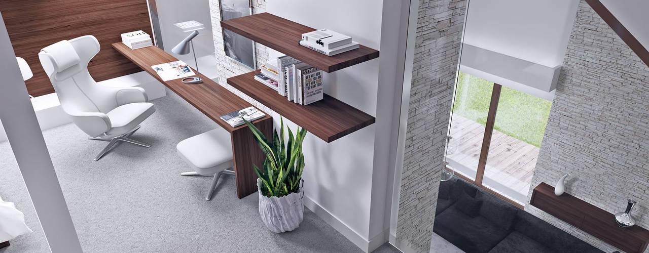 Modern style bedroom by HomeKONCEPT | Projekty Domów Nowoczesnych Modern