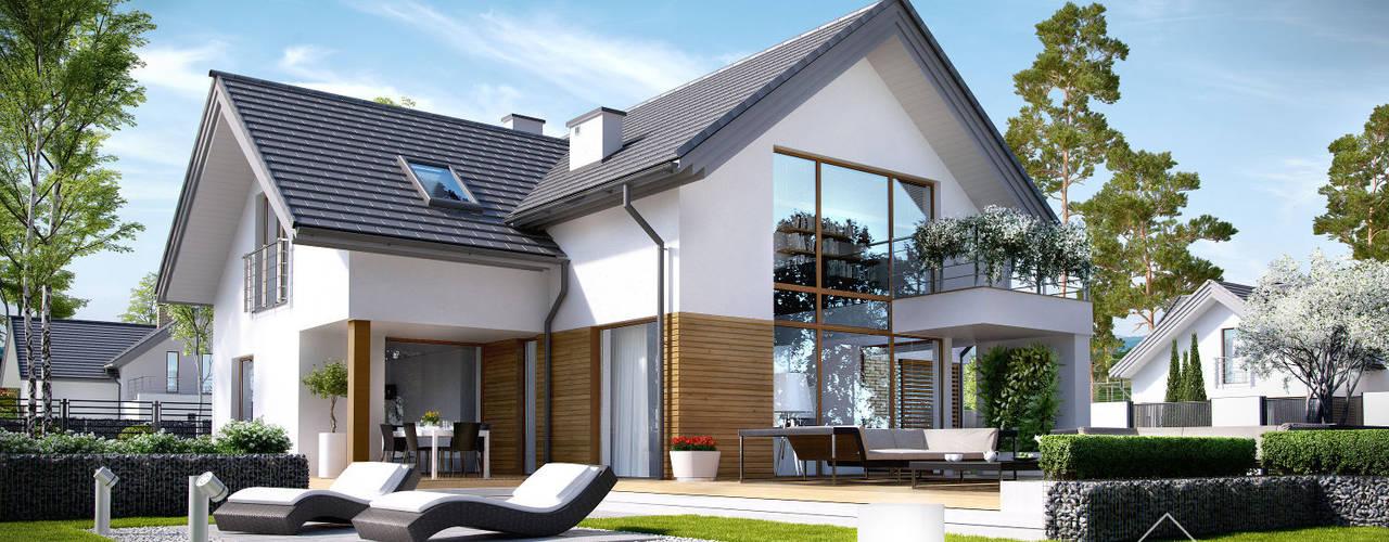 Houses by HomeKONCEPT | Projekty Domów Nowoczesnych,