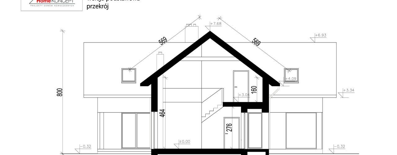 Houses by HomeKONCEPT | Projekty Domów Nowoczesnych
