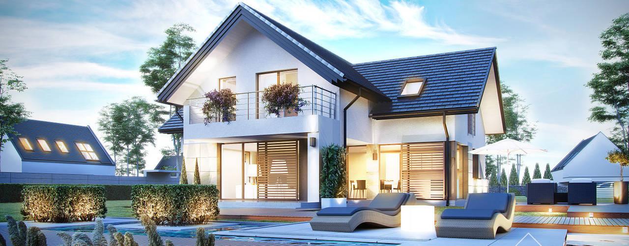 Projekt domu HomeKONCEPT-07: styl , w kategorii Domy zaprojektowany przez HomeKONCEPT | Projekty Domów Nowoczesnych