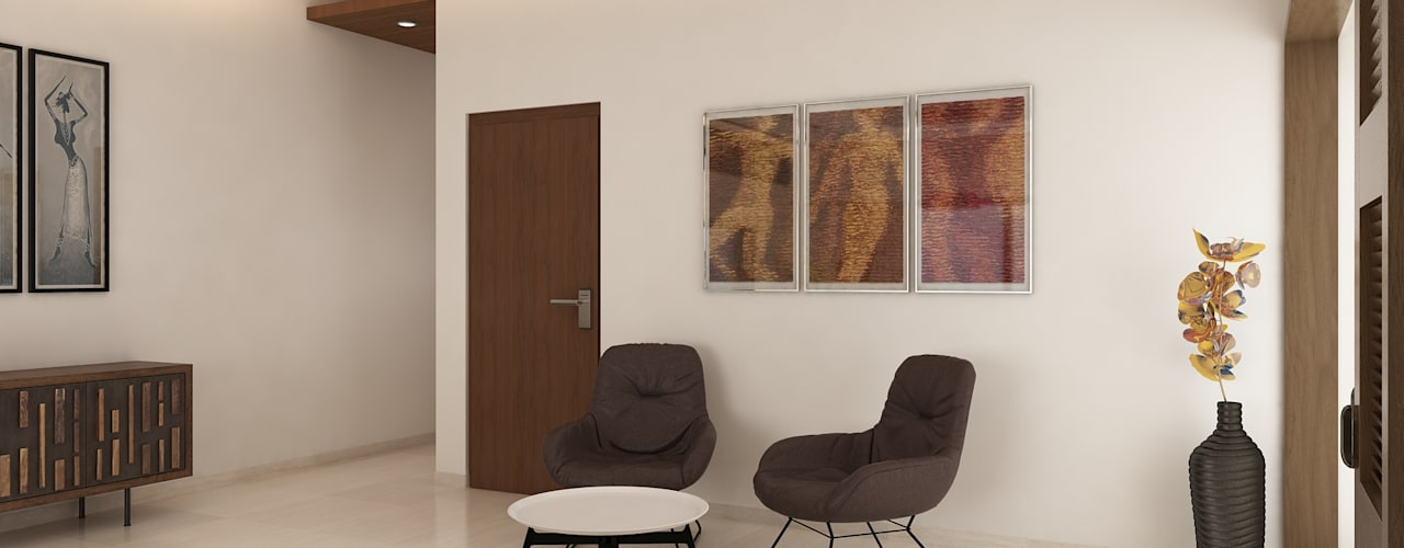 2 BHK Apartment Interior Design by Ghar360