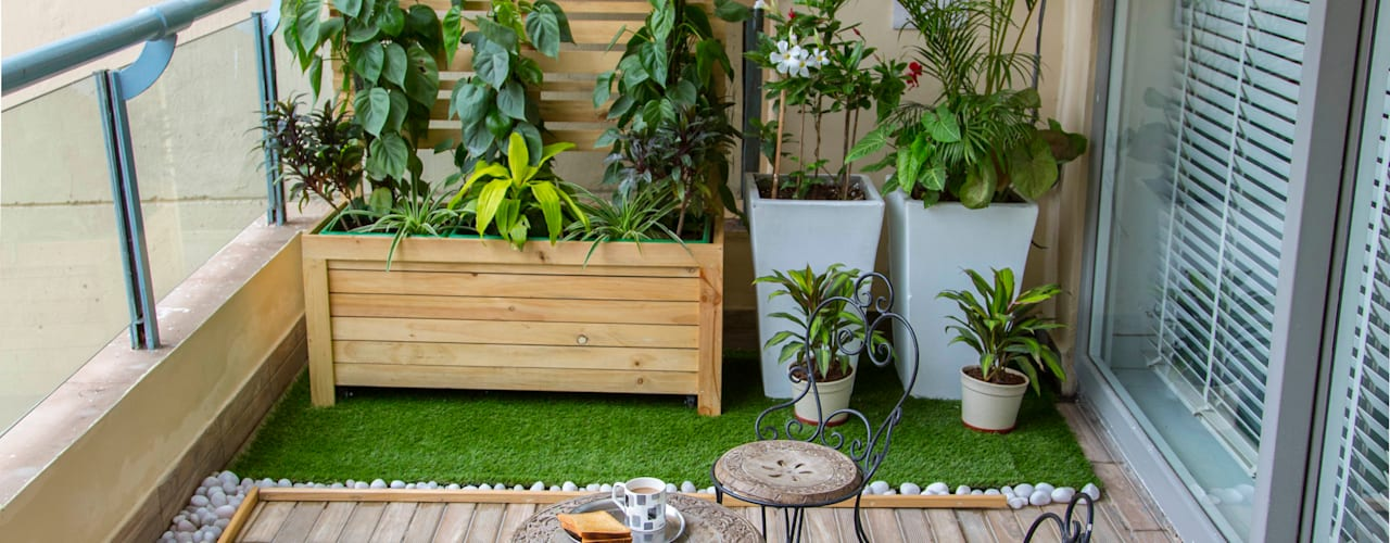 Long Balcony makeover by Studio Earthbox