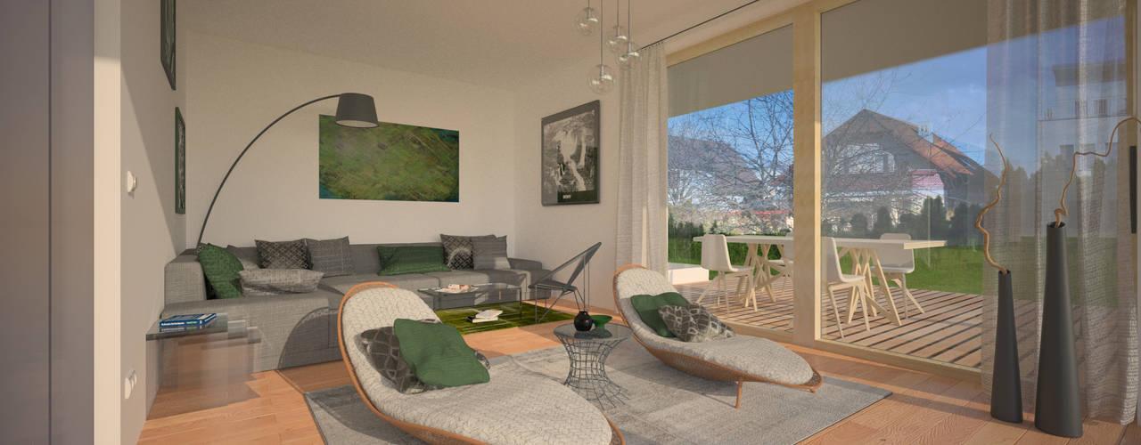 Living room by AL ARCHITEKT - Architekten in Wien