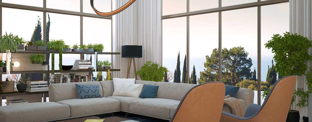Projekty,  Salon zaprojektowane przez VITTA-GROUP
