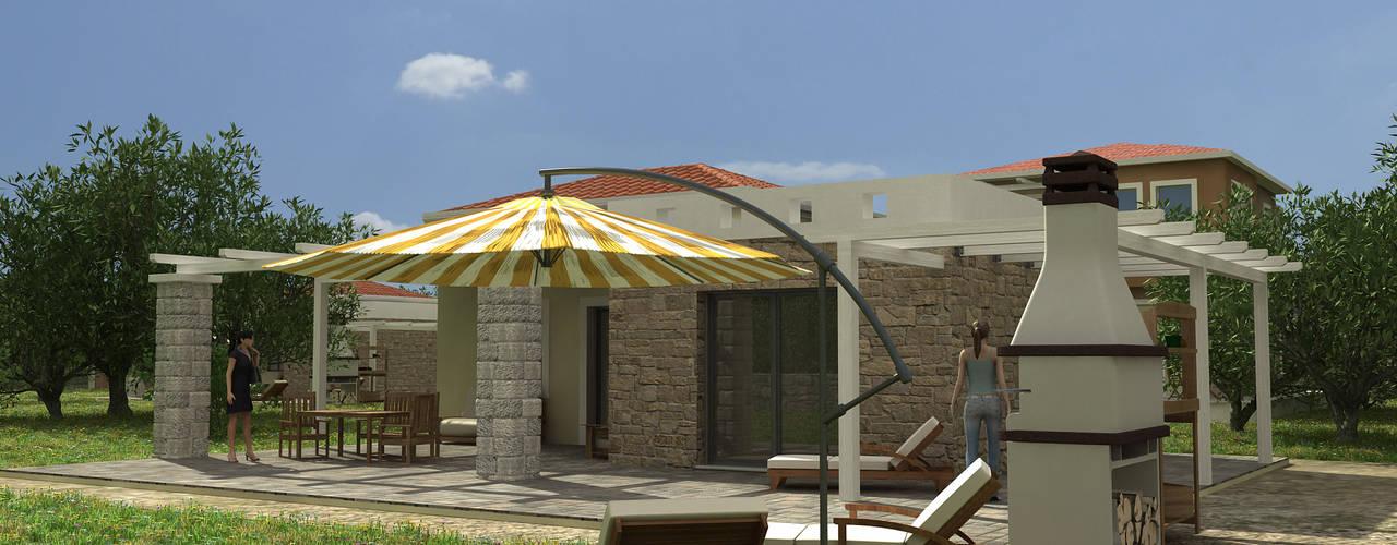 Balcones y terrazas de estilo mediterráneo de Gülşahin Mediterráneo