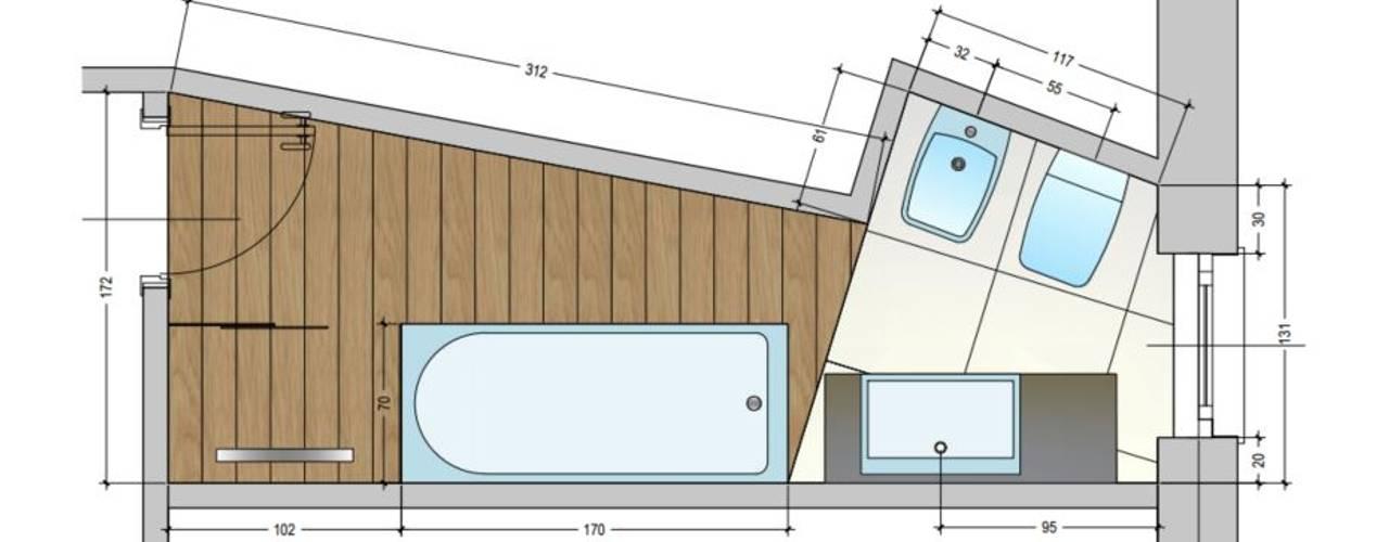Baños de estilo  por Architetto Alberto Colella