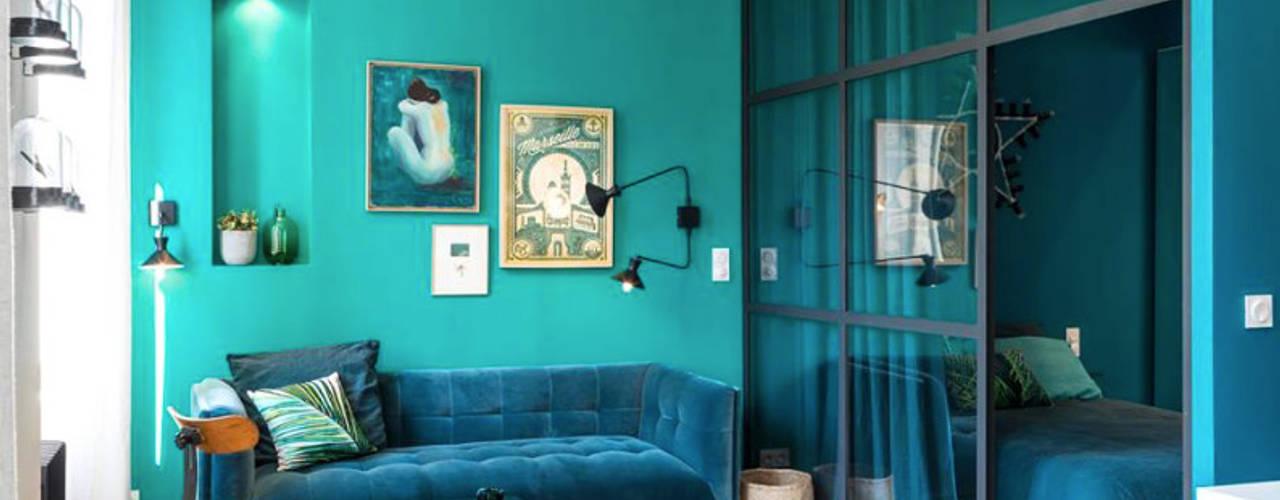 Blue Velvet Salon original par Insides Éclectique