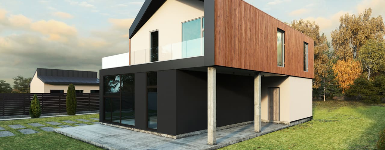 GR-4 HOUSE Дома в стиле минимализм от Мастерская Grynevich Dmitriy Минимализм
