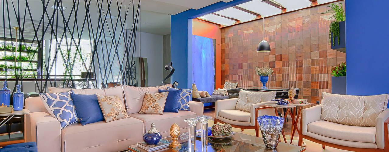 Salas de estilo moderno de Sgabello Interiores Moderno