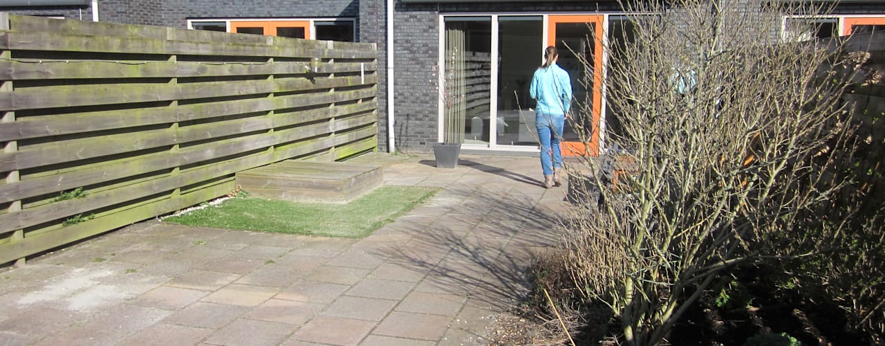Van Dijk Tuinen Groningen Сад в стиле модерн Дерево