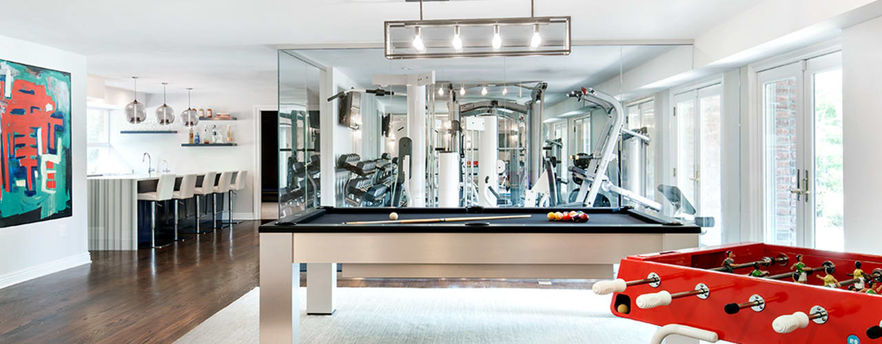 Basement: modern Gym by Clean Design