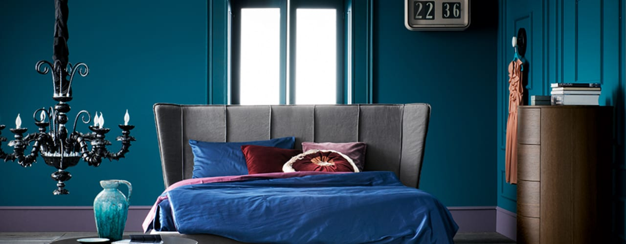 Padded and wooden beds de Dall'Agnese Moderno