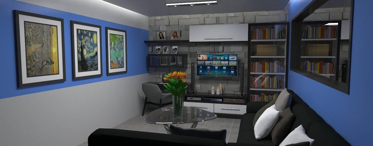 Ruang Keluarga oleh Atahualpa 3D, Modern