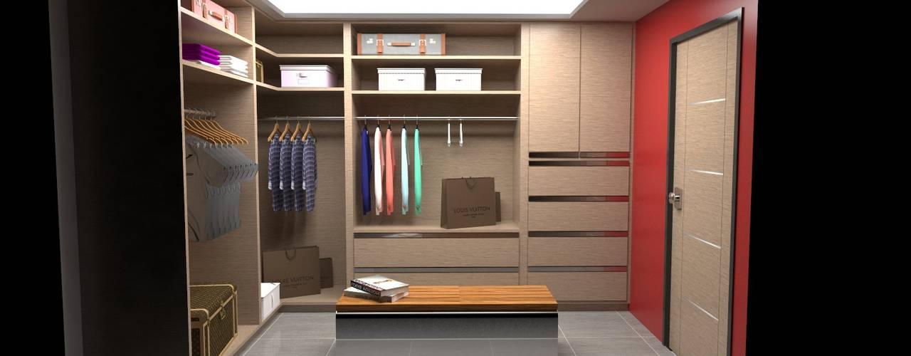 Armario tipo Vestier: Closets de estilo  por Atahualpa 3D