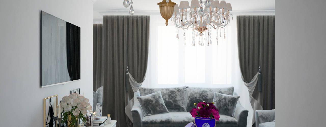Projekty,  Salon zaprojektowane przez Студия дизайна интерьера Маши Марченко, Klasyczny