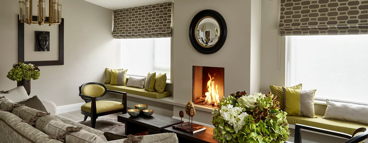 Elegance and colour in a Dulwich home Moderne Wohnzimmer von Tailored Living Interiors Modern