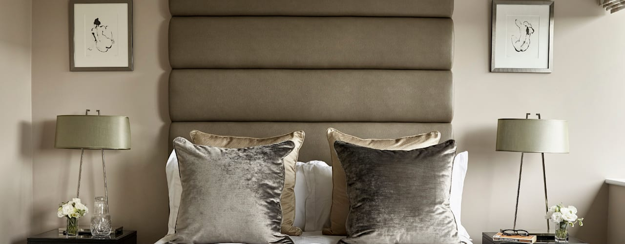 Elegance and colour in a Dulwich home Modern style bedroom by Tailored Living Interiors Modern
