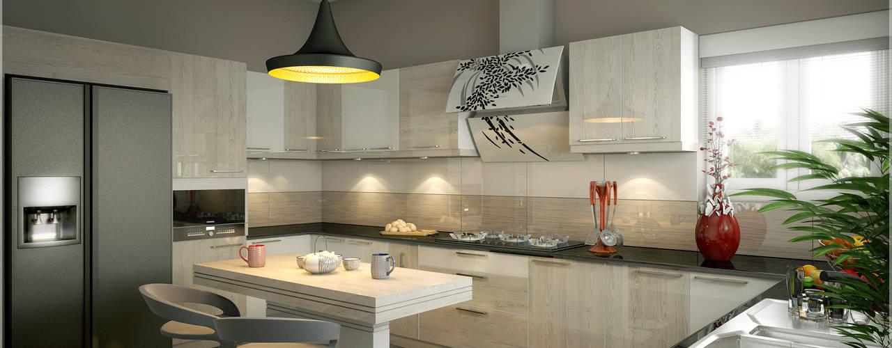 Interiors with Ultra Modern Designs:  Kitchen by Premdas Krishna