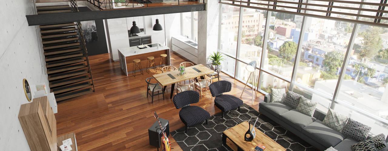 LOFT Salas modernas de FABRE STUDIO Moderno